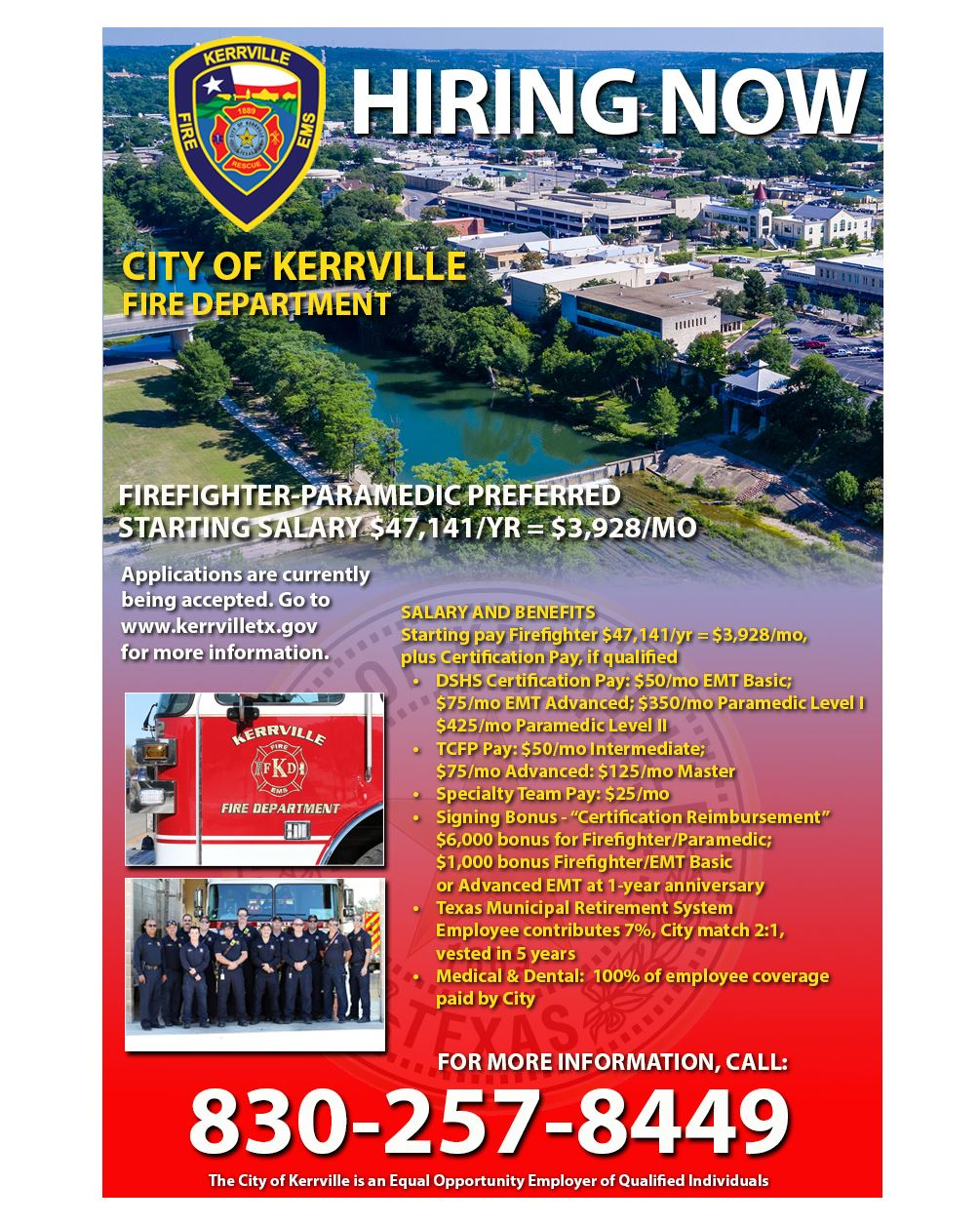 KFD Fire Department Recruitment 8X10
