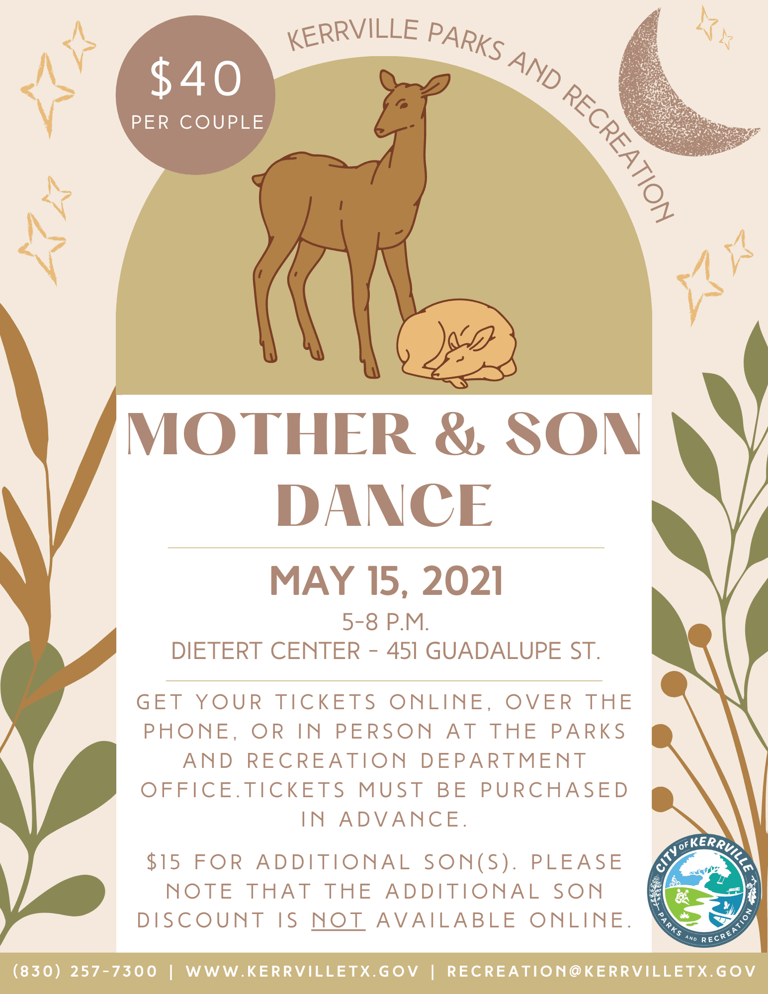 Mother and Son Dance Flyer